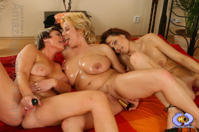 Mature Big Tits Kissing